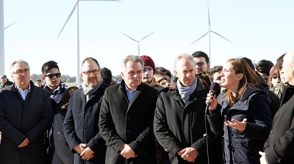 Mindlin y Vidal en el parque eólico bahia blanca