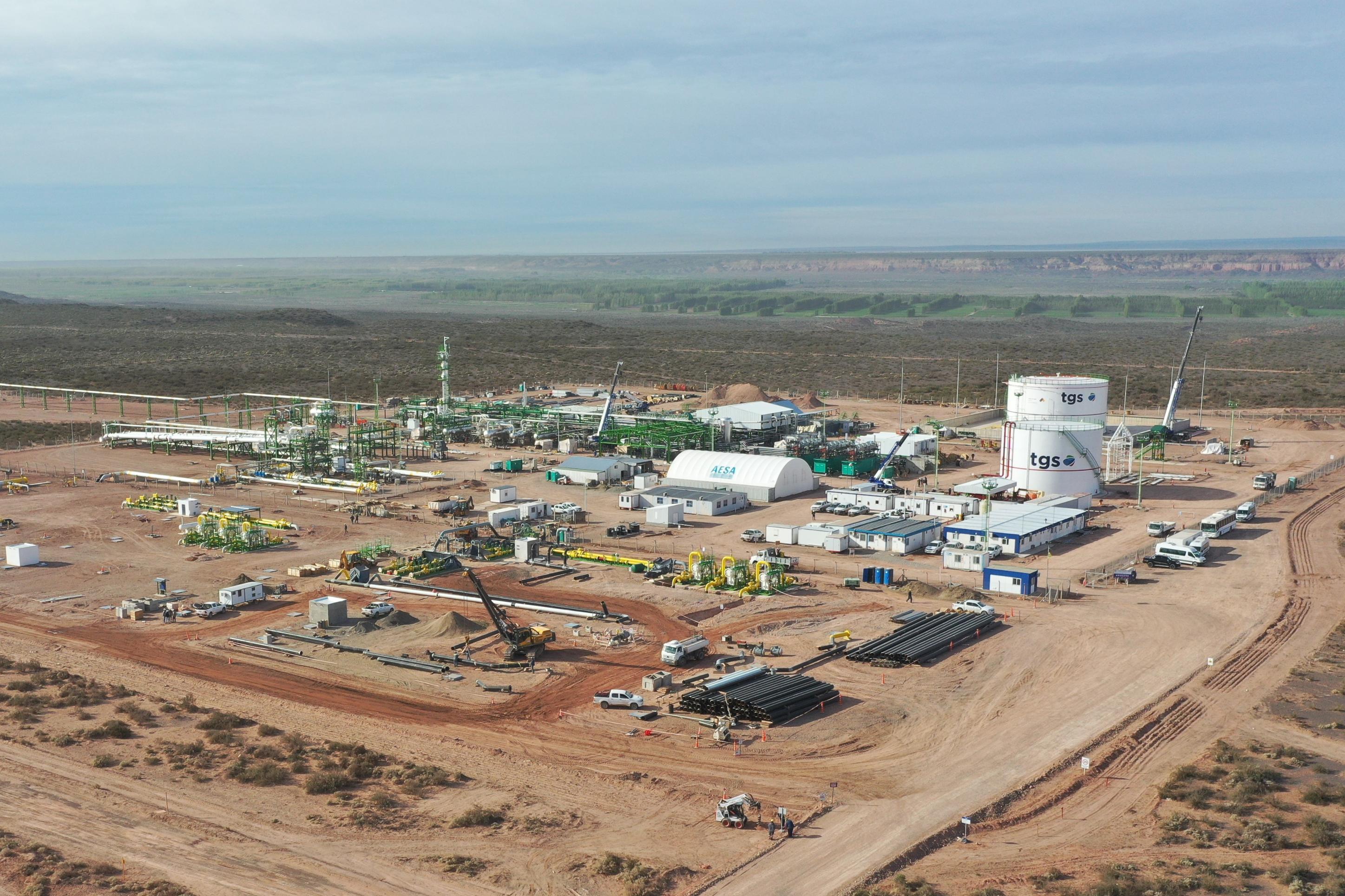Gasoducto en Vaca Muerta: Transportadora Gas del Sur terminó la primera parte